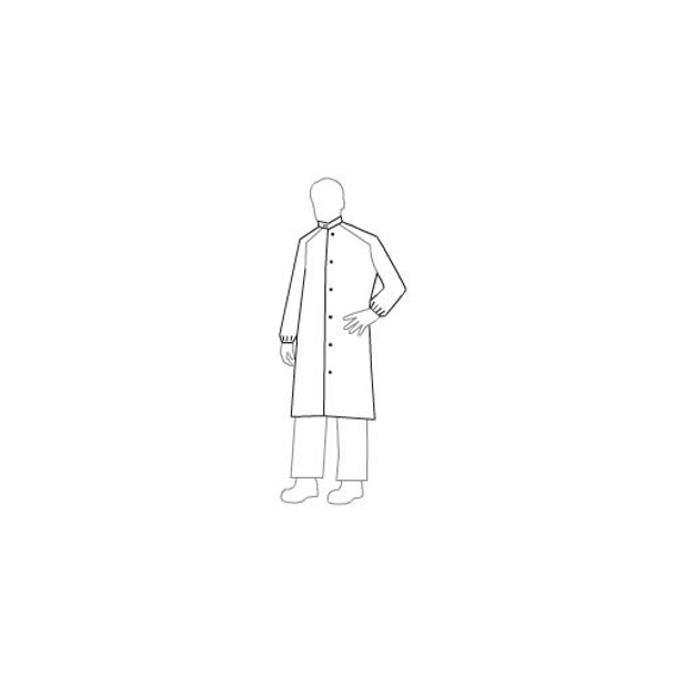 IC262SWHLG00300B DuPont Tyvek IsoClean Frocks with Serged Seams and High Mandarin Collar with Adjustable Snaps Tyvek IsoClean Frock, White, LG, Bulk Packaged Box of  30