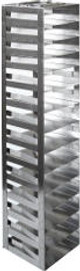 """RM142SA Argos Technologies Mini Spring Clip Rack for 2"""" Cryoboxes, Holds 14 Boxes, Stainless Steel (1 Rack)"""