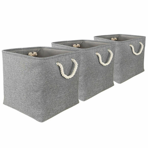 WISTOWS Pack of 3 Fabric Storage Cubes