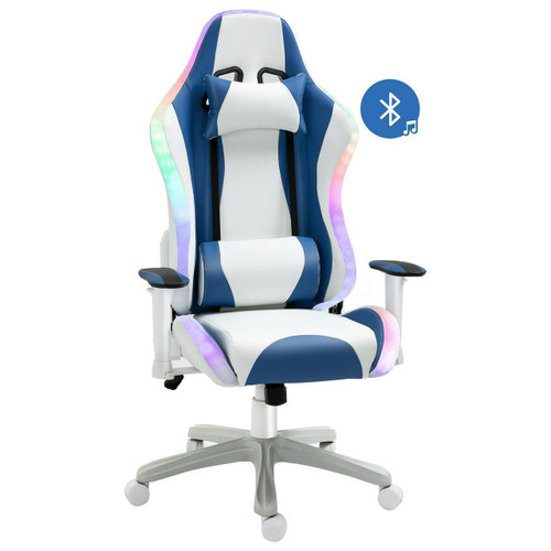 VINSETTO Vinsetto LED Gaming Chair With Bluetooth Speakers