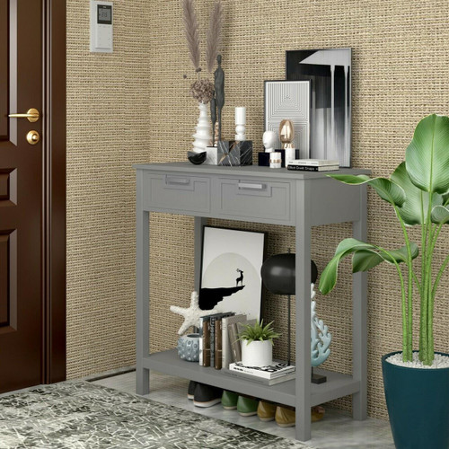 Stylish Console Table 2 Drawer With Shelf