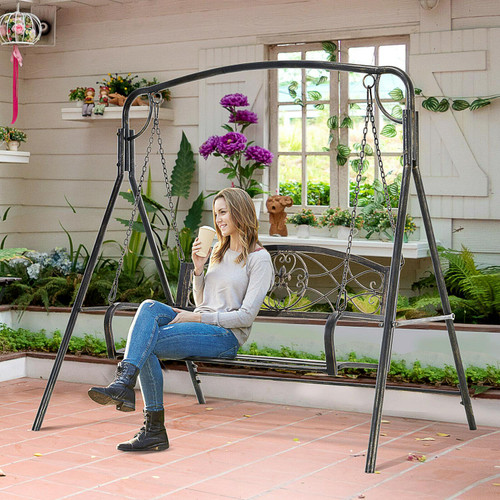 Outsunny 2-Seater Swing Chair Bench