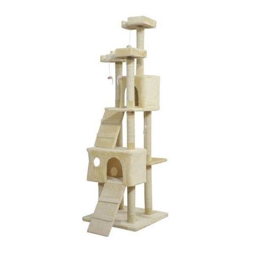 Beige Cat Tree Scratching Post