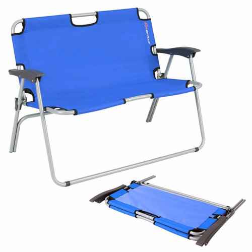 Outdoor Love Seat Folding Camping Armchair Lounger Portable