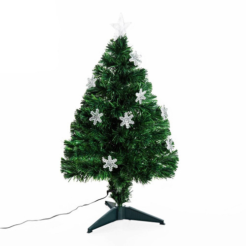 Artificial Christmas Tree With Snowflakes Lights