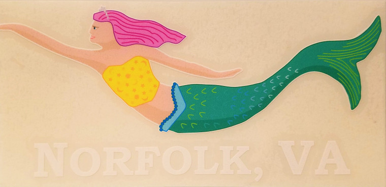 Color Mermaid Decal