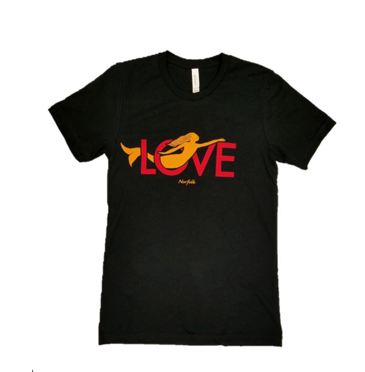 Norfolk Love Mermaid T-Shirt