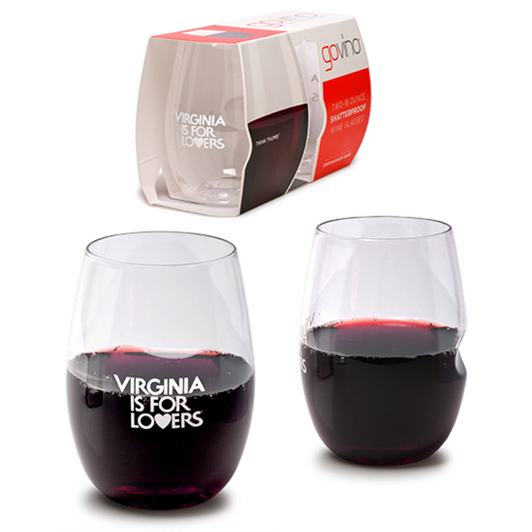 VA Lovers Wine Glasses