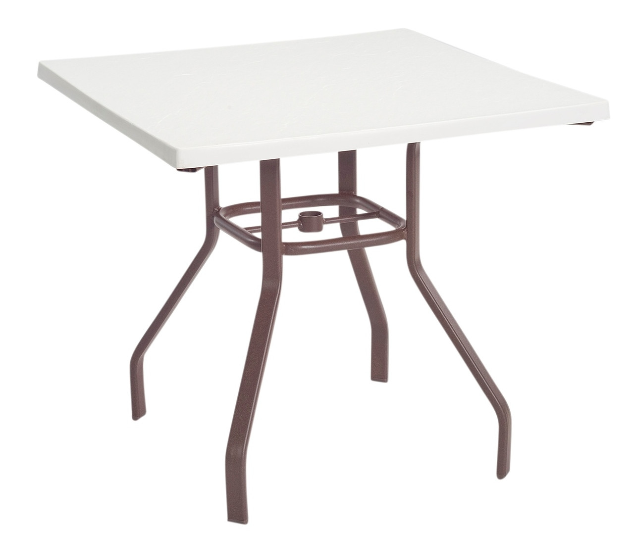 Resort contract fiberglass dining table commercial patio