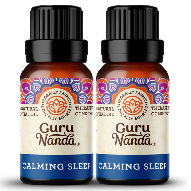 The Calming Sleep blend is formulated with potent ingredients including Lavender, Wintergreen, Frankincense, Lemon, Orange & Patchouli oils.