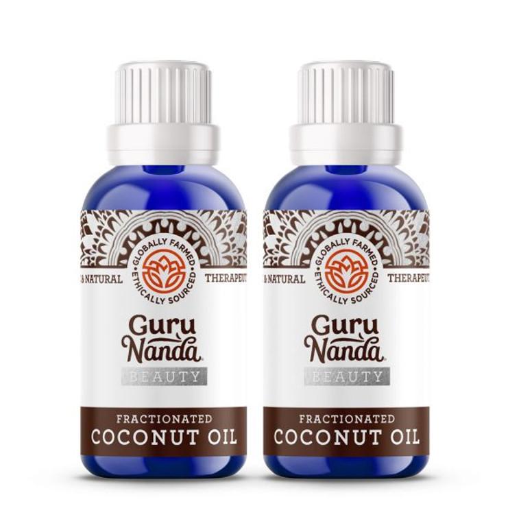 Guru Nanda Fractionated Coconut Oil 2 Count, 1 oz each