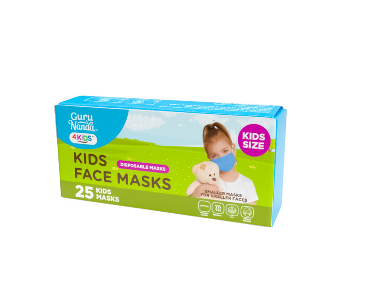Guru Nanda Kids Disposable Face Masks, 25 Count