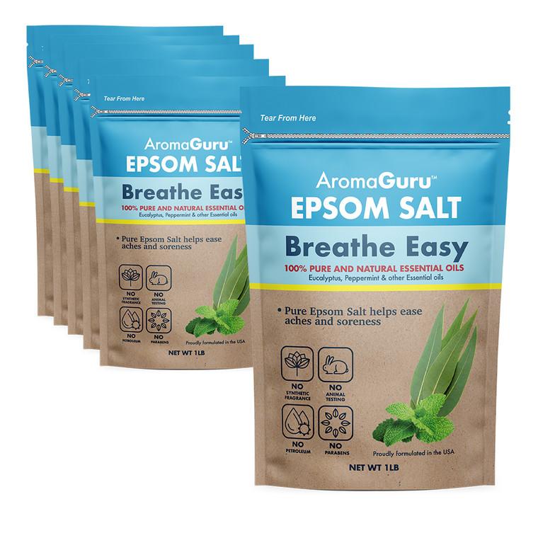 Aroma Guru Breathe Easy Epsom Salt - 6 Count