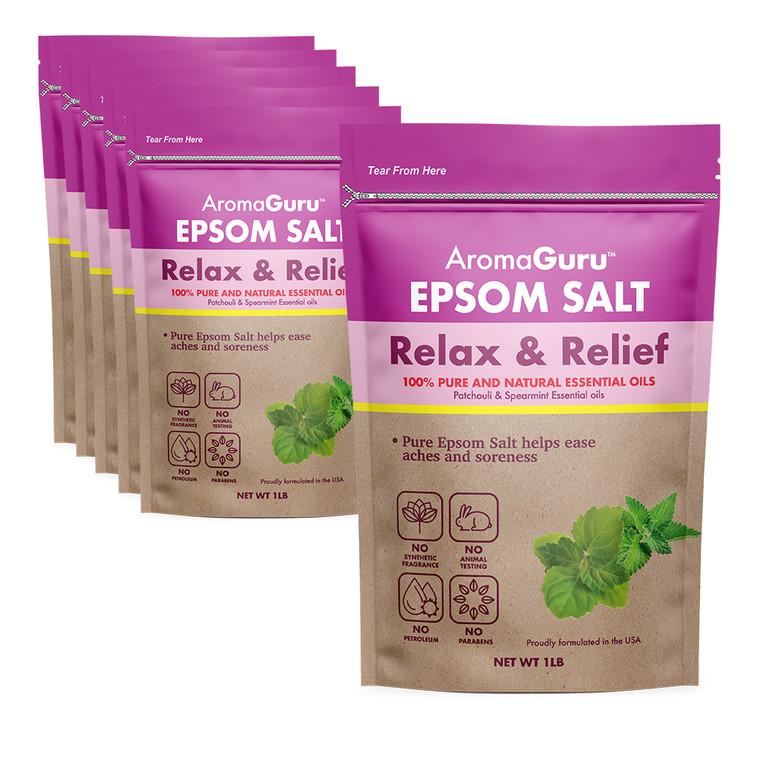 Pack of 6 - Epsom Salt - Relax & Relief