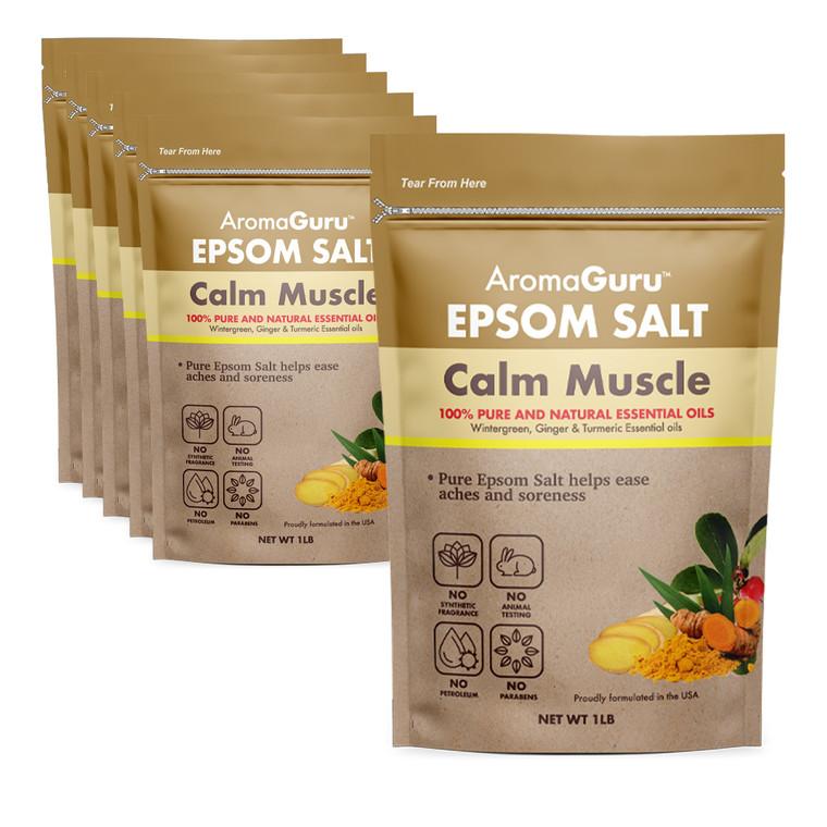Aroma Guru Calm Muscle Epsom Salt - 6 Count