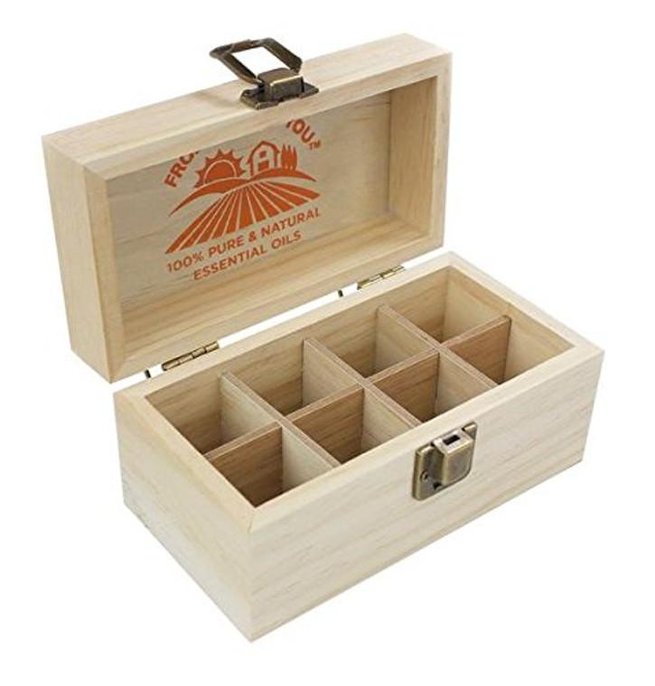 guru nanda 8 essential oil storage box open