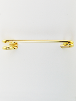 FTOK Plain Large Stock Pin - Gold Finish