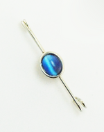 FTOK Sapphire Synthetic Gem Stock Pin