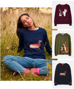 Joules Miranda Knitted Intarsia Crew Neck Sweater