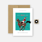 Ho! Ho! Ho! Equestrian Horse Holiday Greeting Card