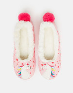 Joules Dreama Junior Slippers - Pink Unicorn