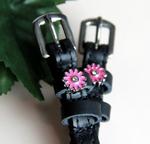 ManeJane Pink Flowers Spur Straps