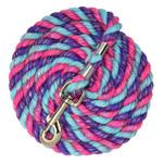 """Perri's1/2"""" Bright Cotton Lead - Pink/Purple/Turquoise Glitter"""