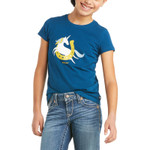 Ariat® Kids' Unicorn Moon T-Shirt - Blue Opal