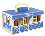 Breyer Farms™ Wood Carry Stable Playset - Blue