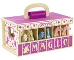 Breyer Farms™ Unicorn Magic Wood Carry Stable Playset - Pink