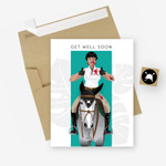 Get Well Soon Equestrian Horse Greeting Card