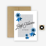 Best Trainer Ever Equestrian Horse Greeting Card