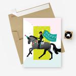 Birthday Parade Equestrian Horse Greeting Card
