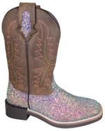 Smoky Mountain Kids' Ariel Square Toe Glitter Boots