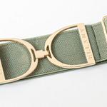 """Ellany Moss - 2"""" Gold Stirrup Elastic Belt"""