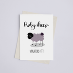 Holy Sheep, You Did It! - Greeting Card
