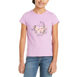 Ariat® Kids' Rosy Unicorn T-Shirt - Violet Tulle