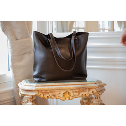 Pénélope Leather Tote Bag