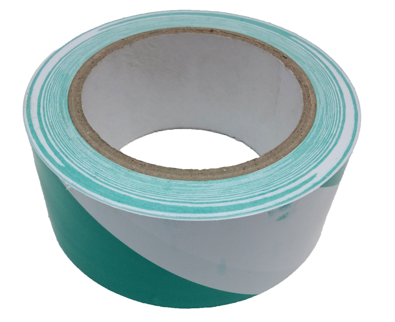 "Green/White Safety Stripe Vinyl 2""x36yd (24 Roll Case / $3.19 Per Case)"