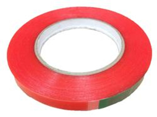 """Red 2 Sided Film Tape 3/8""""x36yds (48 Roll Case / $13.99 Per Roll)"""