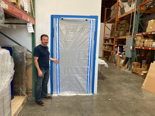 Flame Retardant Zipper Doors 8' x 4' x 4mil (4 Pack)