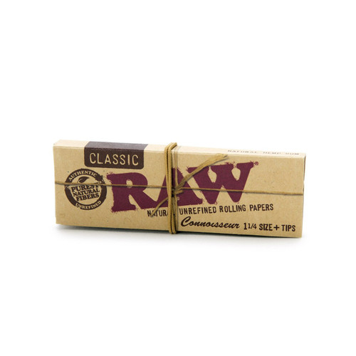"""Raw Connoisseur 1-1/4"""" w/ Tips"""