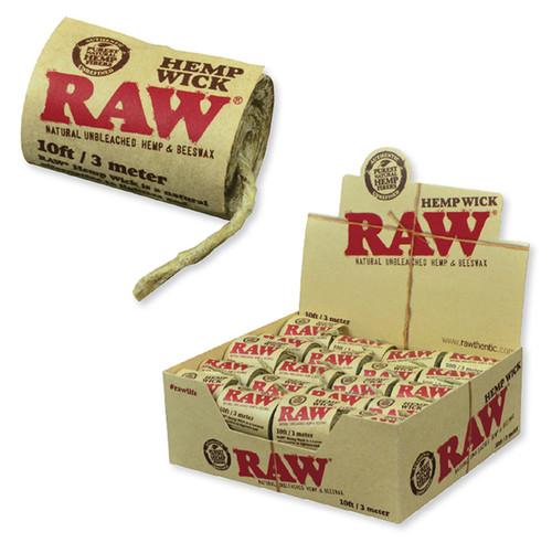 RAW Hemp Wick Roll 10'