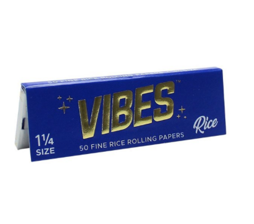 Vibes 1 1/4 Rice (Blue) Rolling Papers
