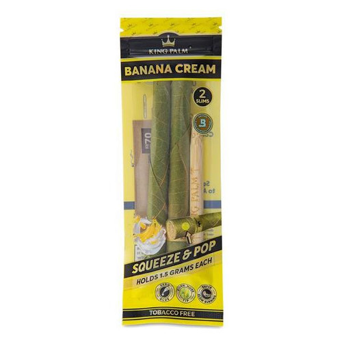 King Palm Squeeze & Pop Slim Pre-Rolled Cones 2ct. - Banana Cream