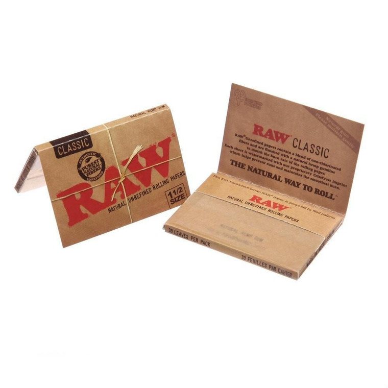 "RAW Natural 1-1/2"" Rolling Papers"