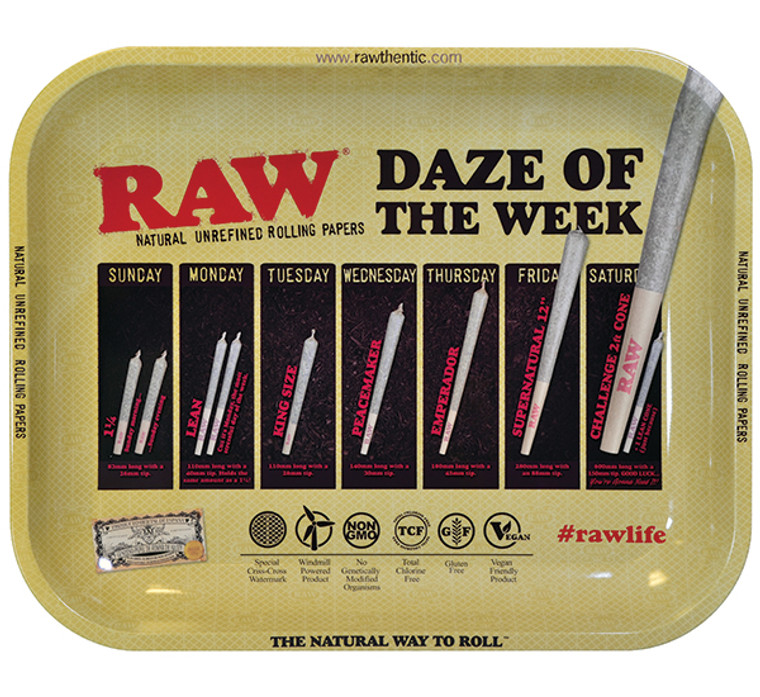 Raw Large Daze of the Week Rolling Tray