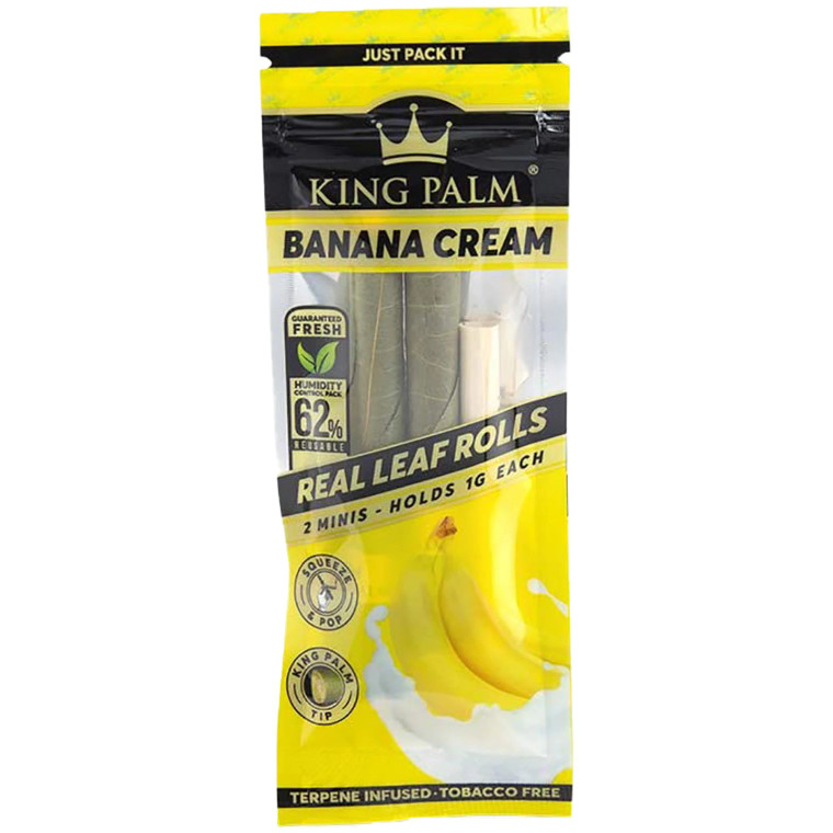 King Palm Banana Cream Squeeze And Pop Mini Pre-Roll Cone 2ct.