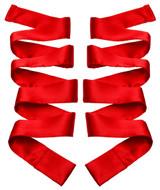 Scarlet Red Satin Sash Set (AC976)