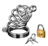 Asylum 4 Ring Locking Chastity Cage (AD147-SM)